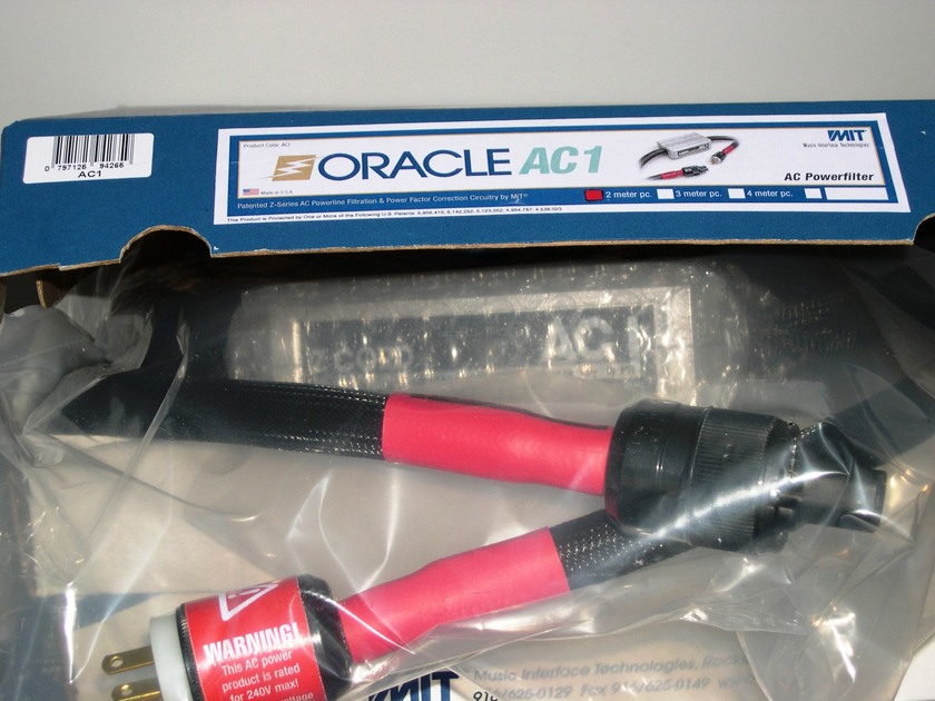 MIT Oracle AC1 power cable Rare 3m length NEW-IN-BOX, lifetime wrnty