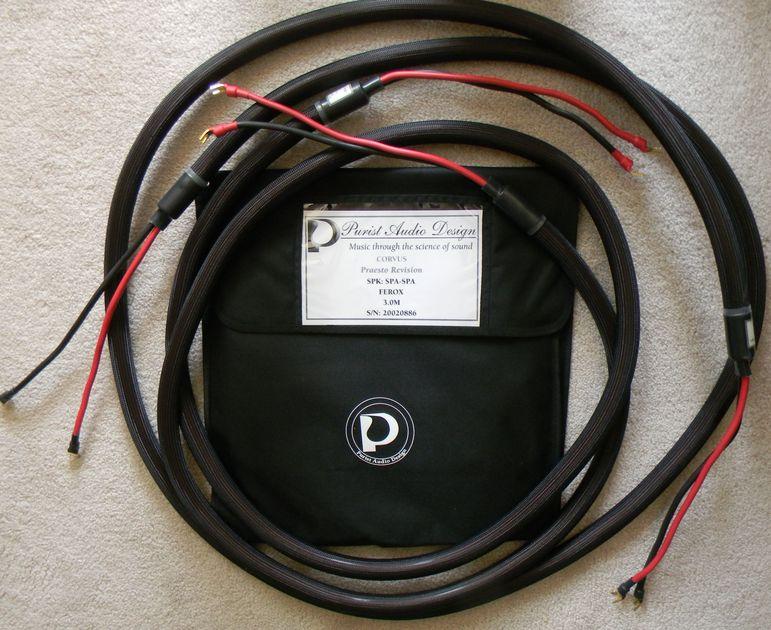 Purist Audio Design Corvus Praesto Revision,  Speaker Cables, 3m, spades