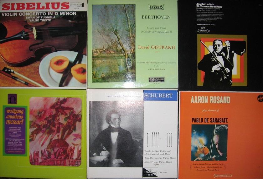 30 Classical Lp's-Violon - Cello-Strings Heifetz  Many Originals