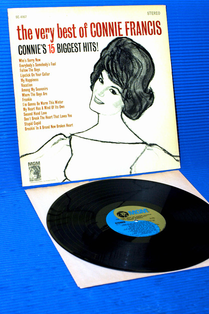"CONNIE FRANCIS - - ""The very best of Connie Francis"" - MGM 1968"