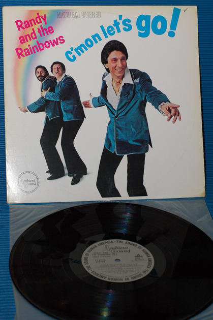 "RANDY & THE RAINBOWS - -  ""C'mon Let's Go!"" - Ambient Sound 1982 1st pressng"