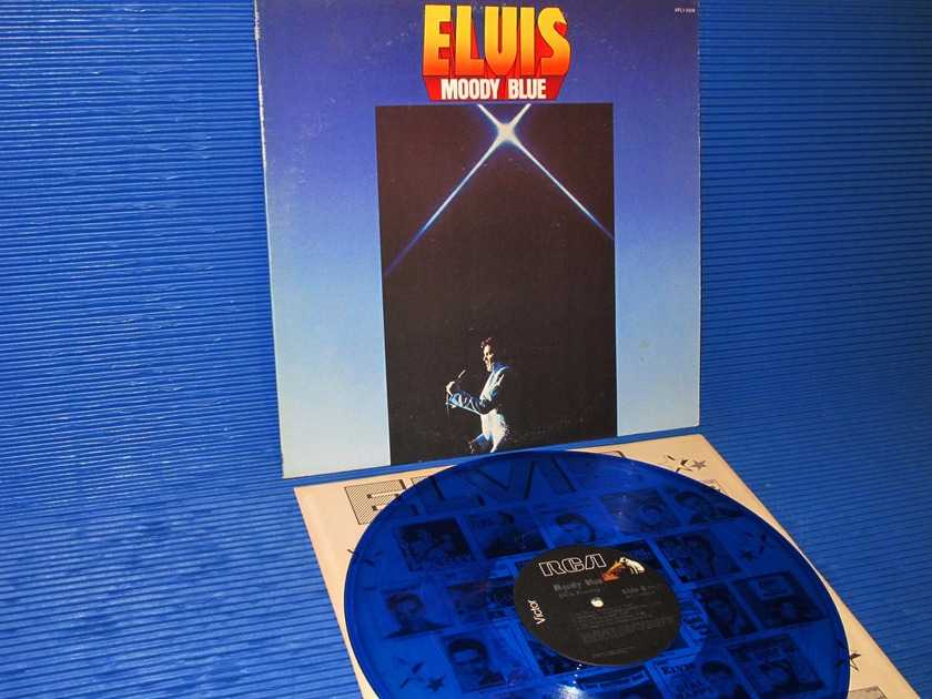 "ELVIS -  - ""Moody Blue"" - RCA 1977 Blue vinyl"