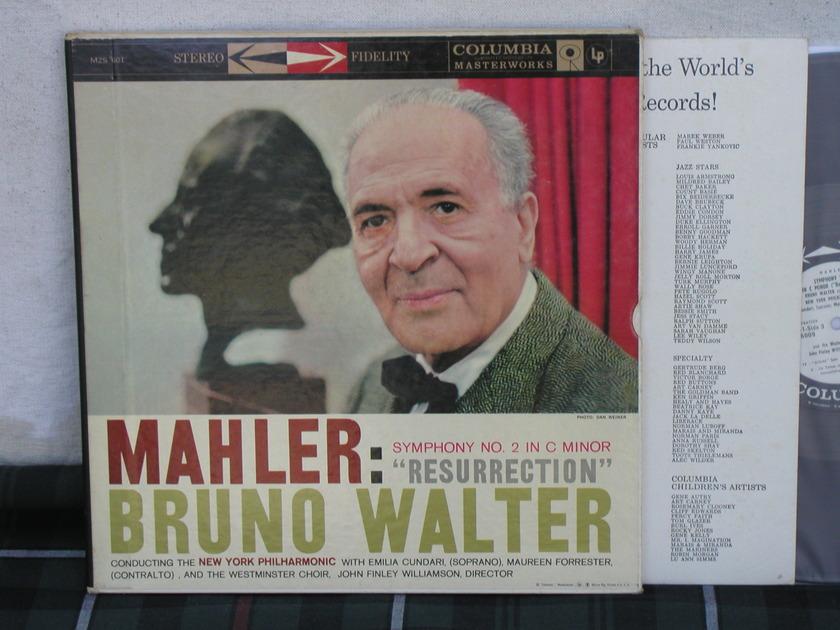 Walter/NYP Mahler Symphony No.2 - 2 LP Boxset 6 EYE WLPromo Columbia M2S 601