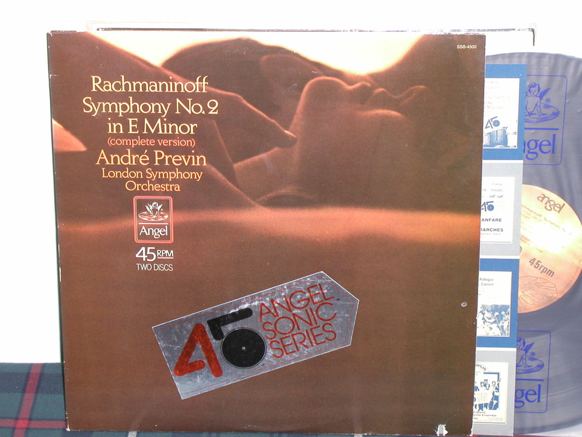 Andre Previn/LSO - Rachmaninoff Sym No 2 45RPM 2 LP Set Angel Sonic 45 RPM Series