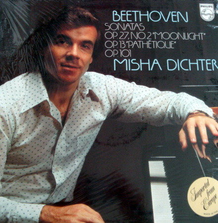 ★Sealed★ Philips / DICHTER, - Beethoven Piano Sonatas No.8 Moonlight, No.8 Pathetique & No.28!