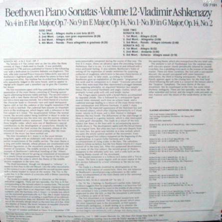 ★Sealed★ London-Decca / - ASHKENAZY, Beethoven Piano Sonatas No.4, 9 & 10!
