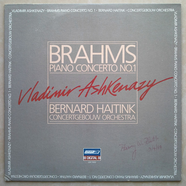 London Digital/Ashkenazy/Brahms - Piano Concerto No. 1 / NM