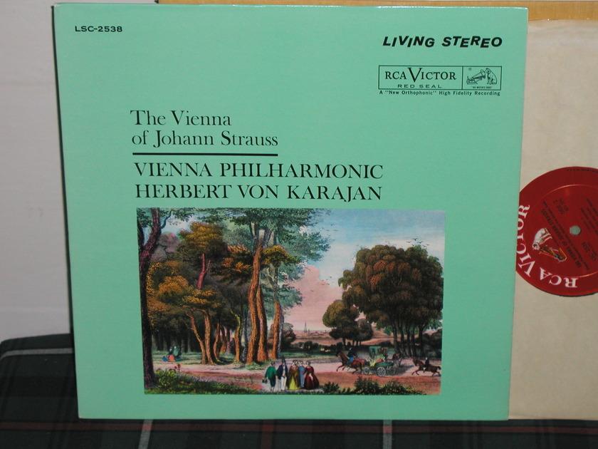 Von Karajan/VPO - Vienna of Johann Str RCA White Dog lsc 2538