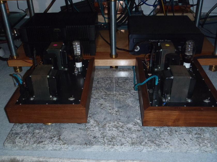 Electra Print 300b Monos walnut base