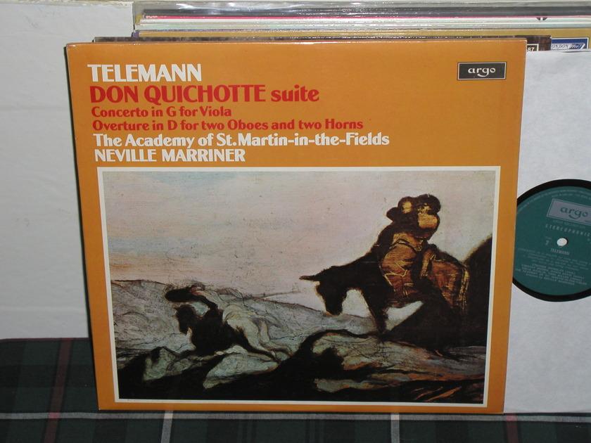 Marriner/AoStMitF - Telemann Don Quixch Argo/Decca UK zrg 836