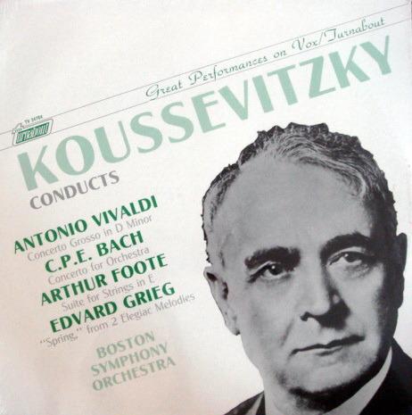 ★Sealed★ Vox Turnabout /  - KOUSSEVITZKY, Vivaldi-Bach Concerto Grosso!
