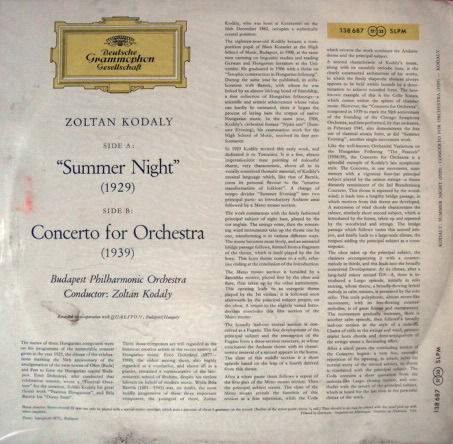 ★Sealed 1st Press★ DGG Red-Stereo / KODALY, - Kodaly Summer Night, Concerto for Orchestra!
