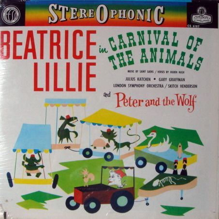 ★Sealed★ London-Decca/ BEATRICE LILLIE, - Prokofiev Peter and the Wolf, Saint-Saens Carnival of the Animals!