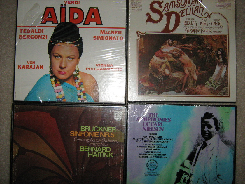 Verdi  Aida & others - Sealed 8 box sets Total 22 lps