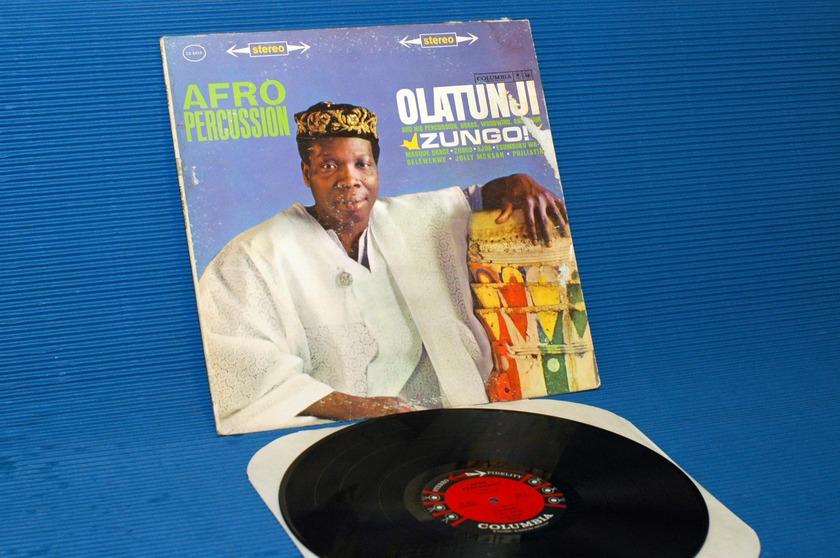 "OLATUNJI -  - ""Zungo/Afro Percussion"" -  CBS '6 Eye' 1961 1st pressing"
