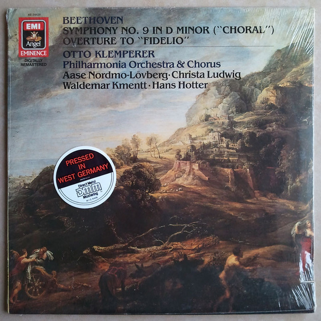 "Sealed/EMI/Klemperer/Beethoven - Symphony No.9 ""Choral"", Fidelio Overture / Press in West Germany"
