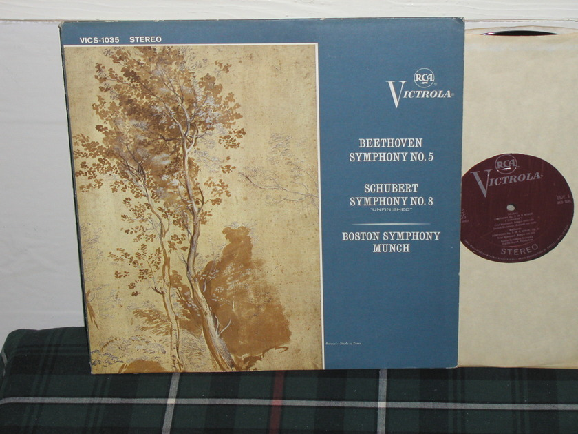 Munch/BSO - Beethoven/Schubert RCA Plum Victrola STEREO