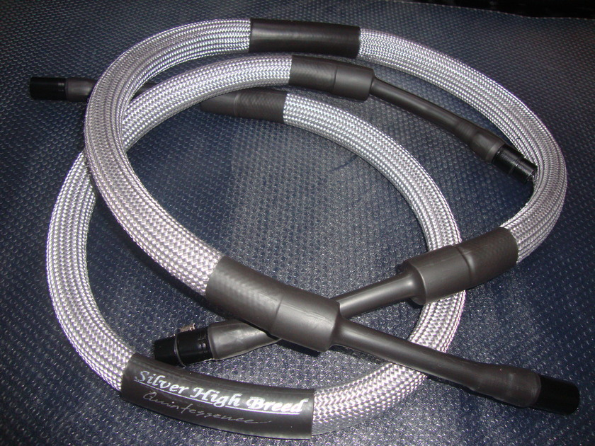SILVER HIGH BREED Quintessence RCA Interconnects - 1m pair (FREE SHIPPING to USA/Canada/Australia)