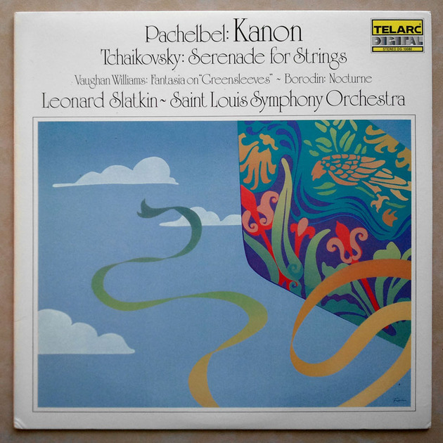 AUDIOPHILE TELARC/Slatkin/PACHELBEL - Kanon, TCHAIKOVSKY Serenade for Strings / NM
