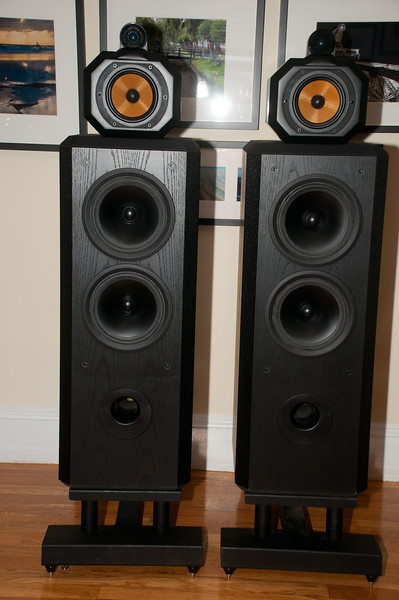 B&W 802 Series III with Sound Anchor Stands