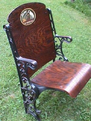 HIS MASTER'S VOICE  THEATRE CHAIR  EXTREMELY RARE!