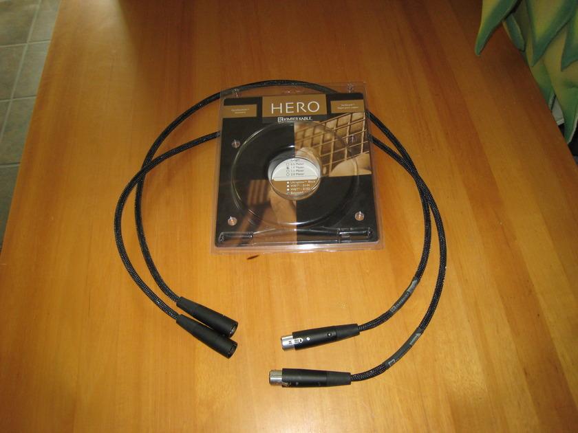 Kimber Kable Hero XLR interconnect 1 meter pair