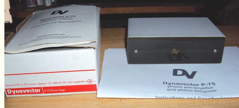 Dynavector  P-75 Phono Pre-amplifier original box and manual