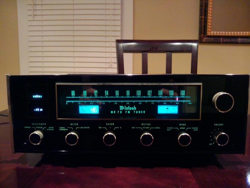 McIntosh MR78 FM Tuner Serviced by Terry DeWick