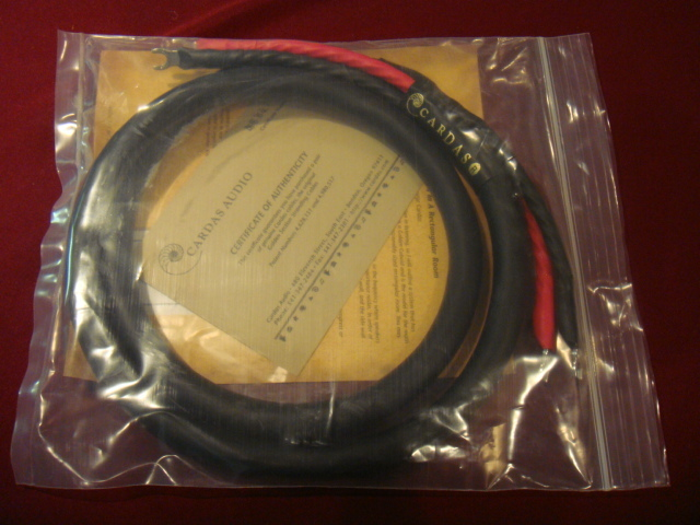 """cardas golden reference  ONE SINGLE 1.5M  ( 61.5"""" tip to tip )  speaker cable ( brand new with cert) with spade ends"""