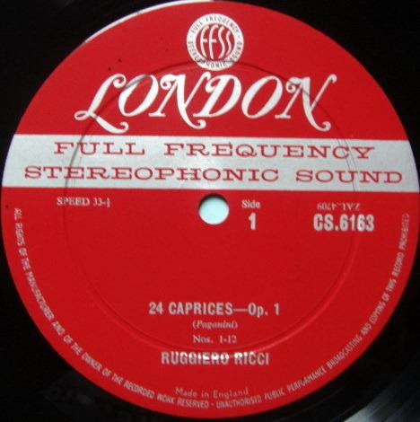 ★1st Press★ LONDON-DECCA FFSS-WB-BB / RUGGIERO RICCI, - Paganini Caprices, NM!