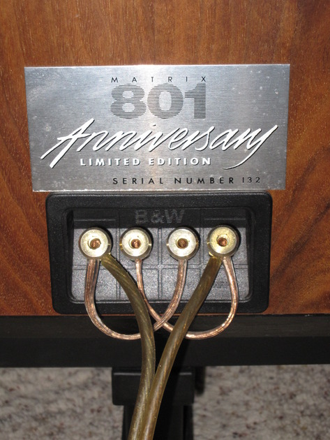 B&W Matrix 801 Anniversary Limited Edition with Sound Anchor Stands