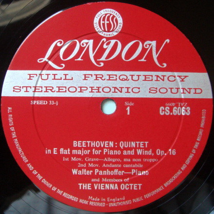 ★1st Press★ LONDON-DECCA FFSS-WB-BB / VIENNA OCTET, - Beethoven Quintet, Mozart Divertimento No.1, NM!