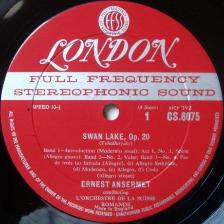 ★1st Press★ LONDON-DECCA FFSS-WB-BB / ANSERMET, - Tchaikovsky Swan Lake Complete, NM, 2LP Box Set!