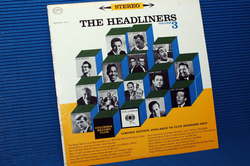"THE HEADLINERS -  - ""Volume III"" - Columbia Record Club 1962"