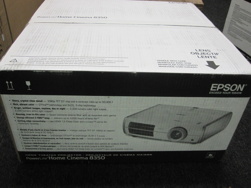 Epson cinema 8350 hd1080p projector Brand New