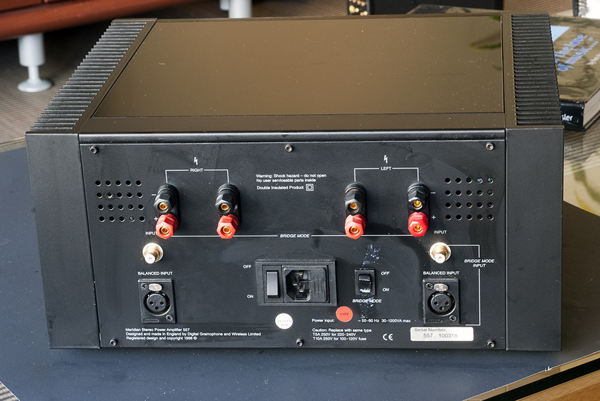 Meridian 557 Power Amplifier; 200w x 2. Balanced and Single End Inputs.