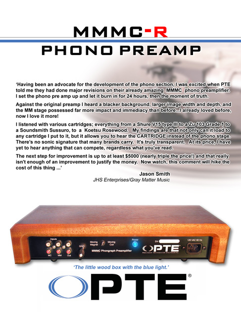 Pte mmmc-r phono preamp high resolution phono preamp