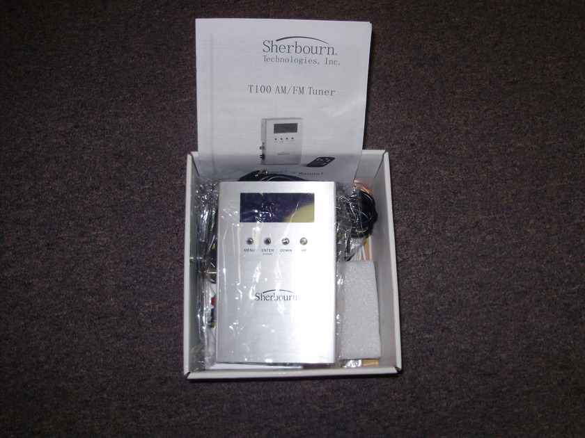 Sherbourn T100 AM/FM Tuner Open box,New,Never installed