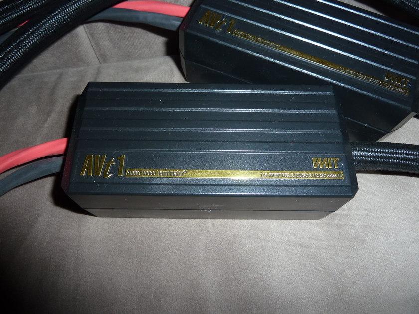 MIT  AVT1 speaker cables 8' single wire free ship US 48 sav $$$$