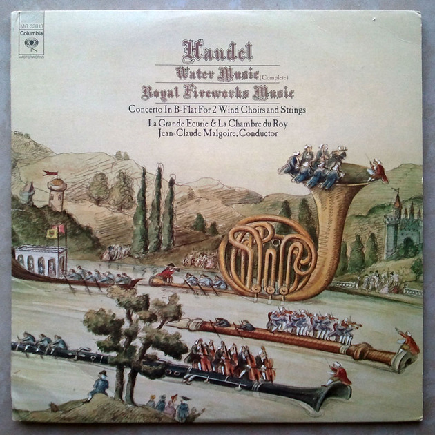 COLUMBIA/Malgoire/HANDEL - Water Music, Royal Fireworks Music / 2-LP / NM