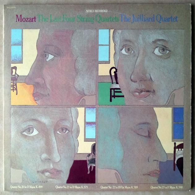 COLUMBIA/Juilliard Quartet/MOZART  - The Last 4 String Quartets Nos. 20, 21, 22, 23 / 2-LP / NM