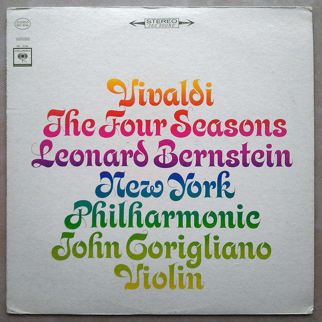 COLUMBIA 2-EYE/Corigliano/VIVALDI - The Four Seasons / VG+