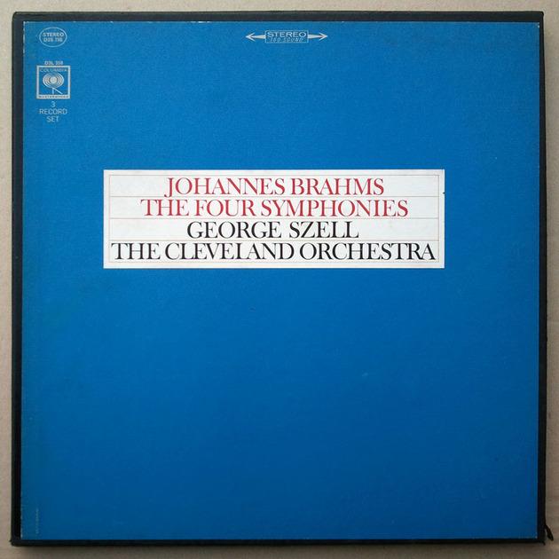 COLUMBIA 2-EYE/Szell/BRAHMS - The Four Symphonies / 3-LP / EX