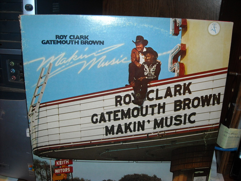 Roy Clark/Gatemouth Bronw -  Makin Music MCA LP (c)
