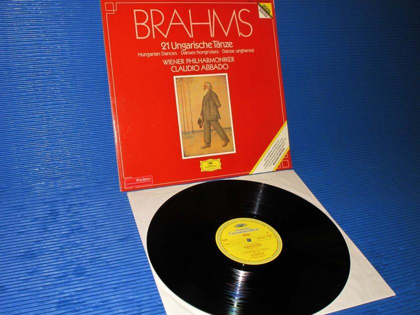 """BRAHMS/Abbado -  - """"21 Hungarian Dances"""" -  DGG 1983 German pressing"""