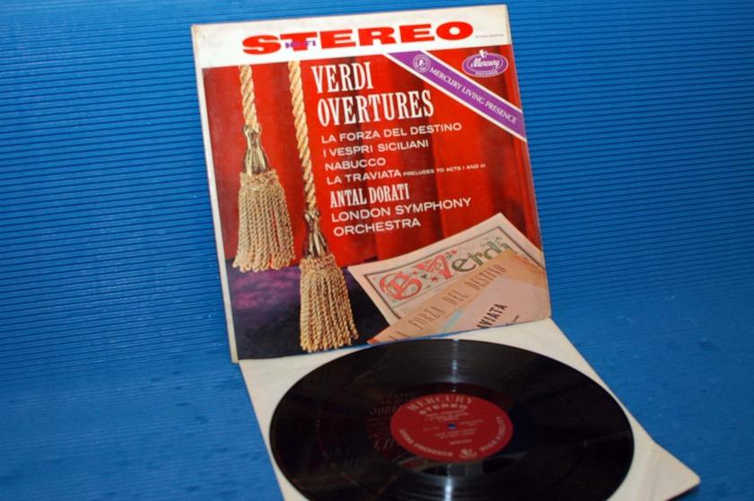 """VERDI/Dorati -  - """"Verdi Overtures"""" -  Mercury Living Presence 1959 1st pressing"""