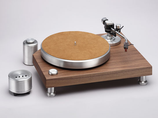 Acoustic Solid Classic Wood (Walnut) Turntable package