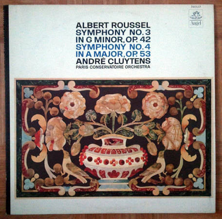 ANGEL BLUE   CLUYTENS/ROUSSEL - Symphonies Nos. 3 & 4 / NM
