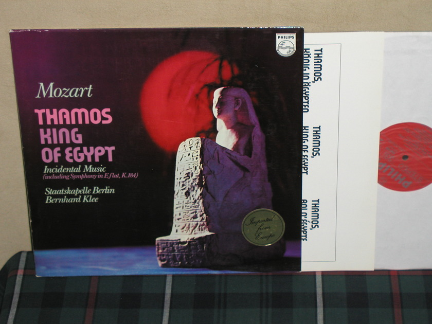 Klee/SB            Mozart - Thamos King Of Egypt. Philips Import Pressing 6500