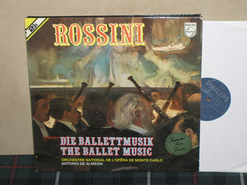 De Almeida/ONdLMC - Rossini Ballet Music 2LP Philips Import Pressing 6780